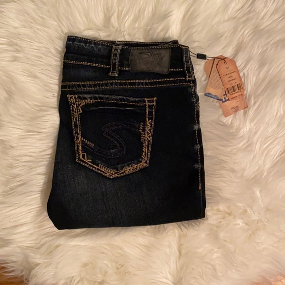 Silver Slim Bootcut Jeans